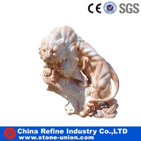 Marble outdoor marble stone lion carving