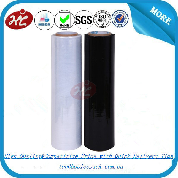 23 micron Black LLDPE Stretch Film Manufacturer China/Linear Low Density Polyethylene/Stretch Wrapping Film