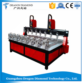 3d wood router cnc machine hot sale/easy operate cnc machine with 8 spindles LZ-1325-8