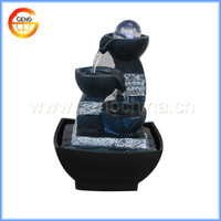 Watering natural stone finish resin fountain for sell