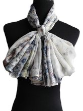 Floral scarf custom made with 100% Viscose, super soft scarf, faddish ladies scarves