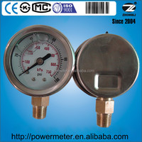 Lower mount 40mm stainless steel manometer for 100 psi and 700 kPa
