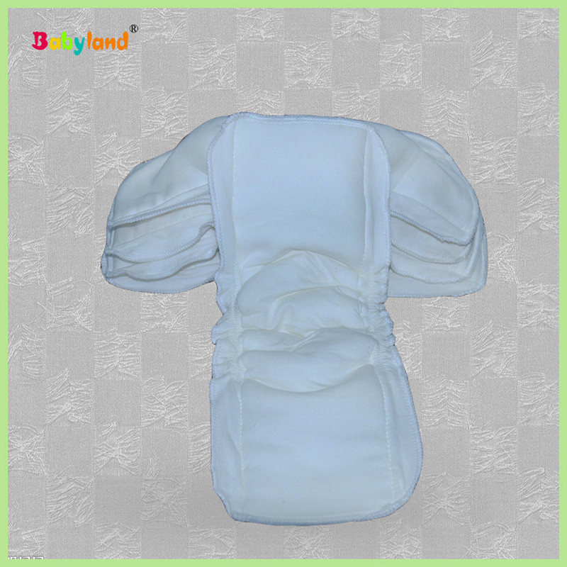 Bamboo Cotton Double Gussets Leak guard Waterproof Diaper Inserts