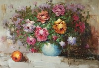 Home decor wall art 100% handmade classical flower oil painting for living room