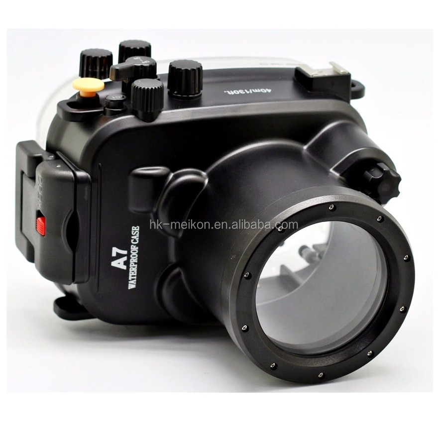 Meikon 40M/130ft underwater camera waterproof case housing for Sony A7/A7R/A7S, <strong>2</strong> year warranty