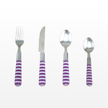 Plastic handle Zebra-stripe cutlery zebra stripe plastic handle cutlery