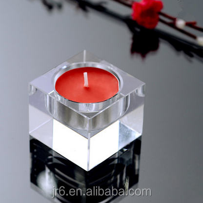 Hand painted machine made flat glass candle holder buy for Flat candle holders