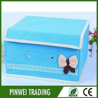 hot sale storage box home storage boxes non woven with cover for organizer container