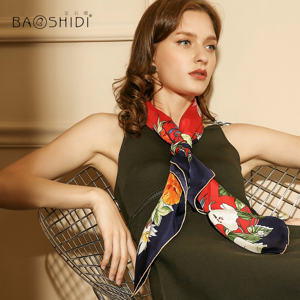 Fashion Luxury Brand Silk Twill Women Scarf Fashionable