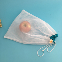 wholesale drawstring mesh net bag for vegetables and fruits