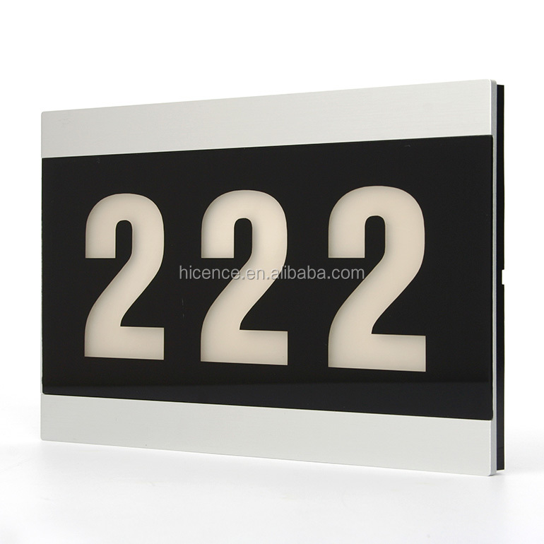 Luxury Electronic Room Numbers Sign