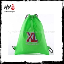 Plain drawstring sling bag, pp nonwoven drawstring backpack, disposable drawstring bag