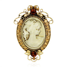 New Design Eurpoe And The United States Popular Cameo Brooches For Women