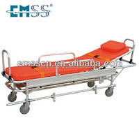 hospital furniture emergency medical trolley wheels stretcher with wheels cart