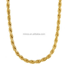 14K Gold 3mm 22-inch Rope Chain