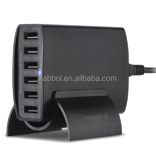 Shenzhen factory 6 port Usb desktop dock mobile phone charger for iPhone iPad Samsung Galaxy Nexus HTC Mobiles Tablets