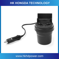Portable Electric Type dual USB Cup holder Car charger smart phone charger