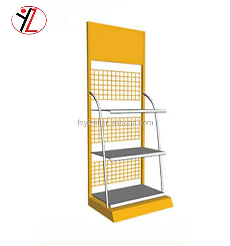 Alibaba customized metal wire oil bottle display rack car wash shop and car care store