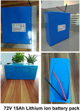 Customized 72V rechargeable battery pack 18650 li ion 72 volt ebike battery for electric bicycle 15Ah