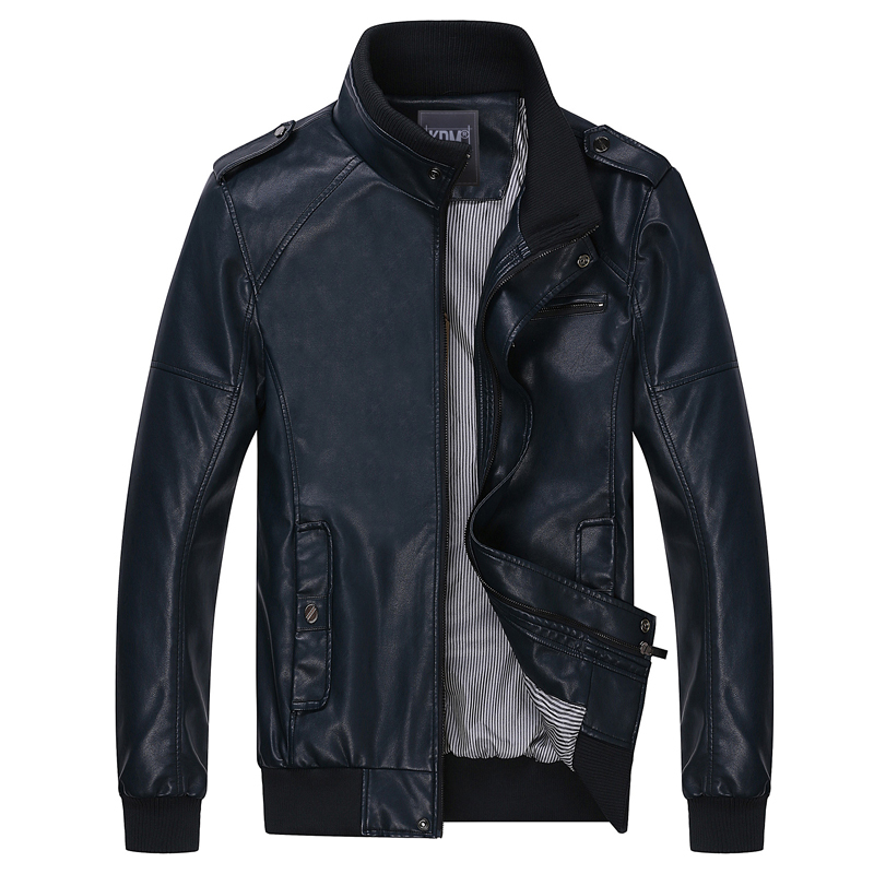2015 Winter brand motorcycle leather jackets men ,Zipper Casual fashion Slim men's leather jacket,mens leather jackets  2378