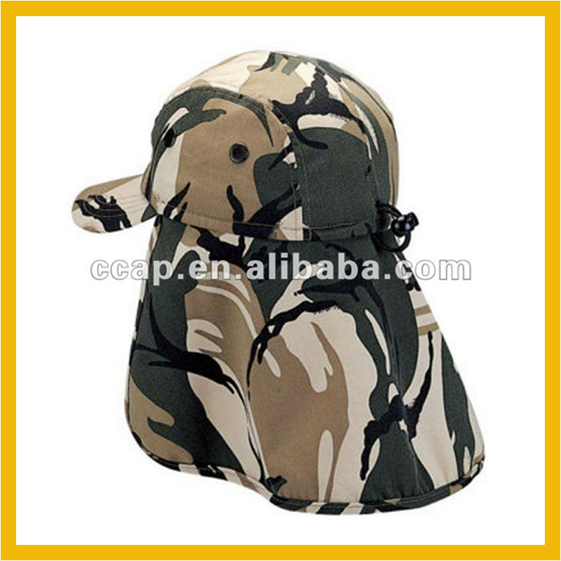 Custom camouflage cap neck flap hat