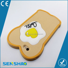 Wholesale 3D Soft Silicone Cover Egg Shape Food Design Phone Case For iphone 5 6 6plus