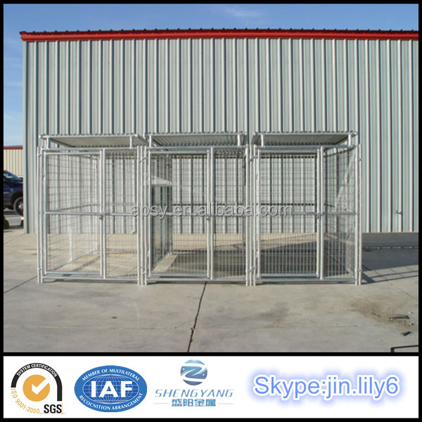Hot sell manufacture supply 3 section dog kennels pet cage
