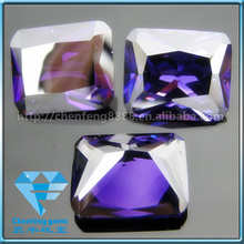 Synthetic loose purple octagon cubic zirconia/cz stone