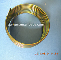 Outside Coating gold zinc Double Wall Pipe Used For Heater With Excellent Resistance