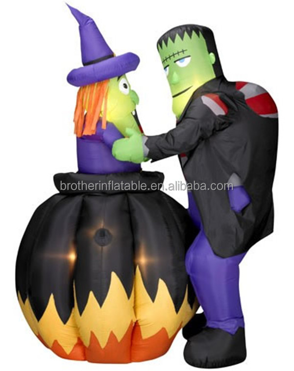 Wholesale decoration halloween inflatable witch