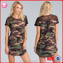 Sexy Mini Camo Dress Shift New Beautiful Girl Without Dress