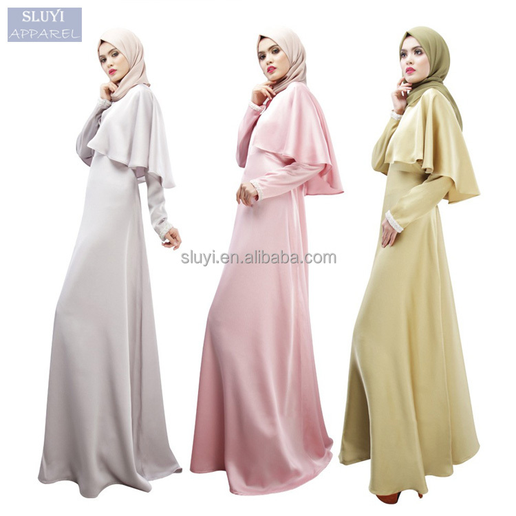 Muslim Long Dresses abaya ladies colors Turkish Clothing long raglan sleeve design maxi dress Women latest design muslim dress