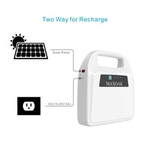 High capacity Solar power bank solar kit 324Wh/216Wh K9 with LED light ,solar panel