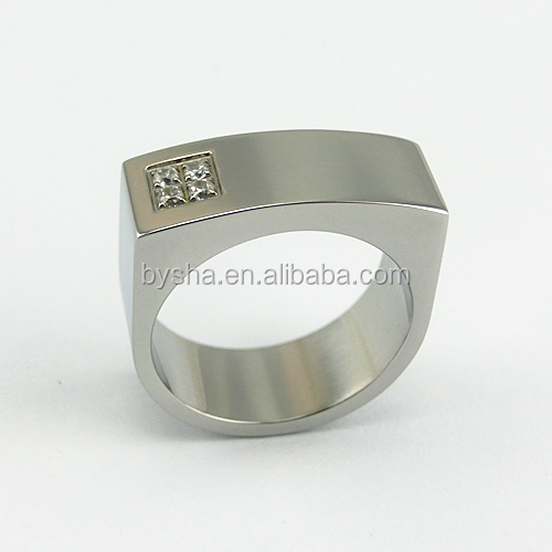 Wholesales Stainless Steel Stone Bulk Metal d Ring