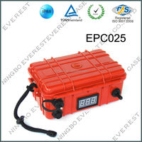 Hard plastic waterproof equipment case for mobile phones