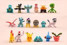 Free shipping wholesale 432pcs 2-3cm Pokemon ornaments 3sets small doll Christmas toy mini figure for boys