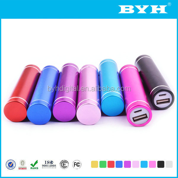 Travel emergency charger fashion slim model portable big capacity mobile power bank 2600mah