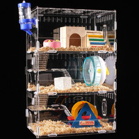 Hot Sale Customized Acrylic Reptiles Hamster Pet Squirrel Box Cage