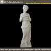 nude girl white marble statue
