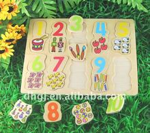 45*35cm number puzzle game wood