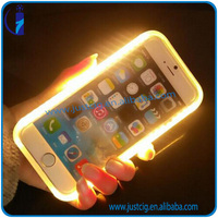Top sales USA led cell phone case pu leather phone case for iPhone 5 5S 6 6S plus from China