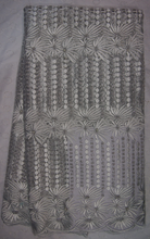 AG3122#2 Net gray embroidered design guipure lace fabric / african french lace fabric