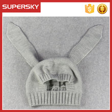 A66 Children Animal Earflap Beanie Kids Boy Girl Knitted Hat Crochet Rabbit Ear Baby Beanie