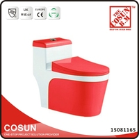 Bathroom Ceramic Red Color Commode Toilets