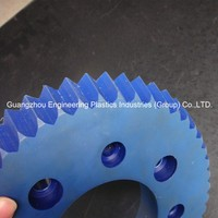 Free design custom engineering plastic cnc machining part PA1010 nylon gears in spur gear