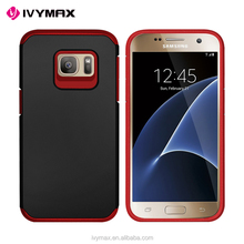 IVYMAX 2016 best seller dual layered phone case for samsung galaxy S7 fans