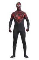 Halloween Lycra Spandex zentai costume red blue or black Spiderman latex costume fancy full bodysuit