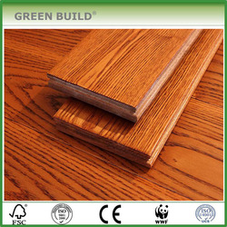Fire retardant Ash Hand scraped Yellow Solid Wood Flooring