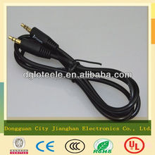 Dongguan supplier 3.5mm braided audio cable male to male with free sample made in China