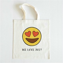 kids smile library bag in packaging tote shopping cotton bags